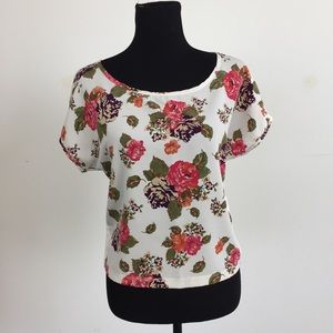 Divided Tops - Beautiful Bright Floral T-Shirt