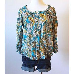 SALE ❗️ H&M Paisley Print Buttoned Blouse ✨✨