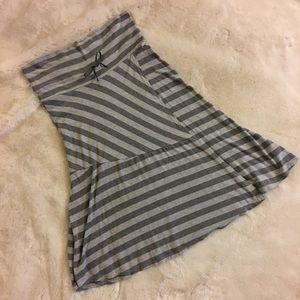 Athleta Stripe Wrap Front Pocket Flowy Skirt