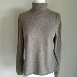 Charter Club Sweaters - Cashmere Charter Club Beige Turtleneck Sweater
