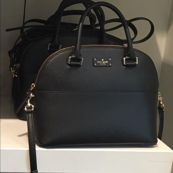 Kate Spade Grove Street Leather Carli BlackSatchel e19ad65f609fe