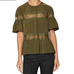 Walter Baker Tops - Walter Baker Olive Green Gwen Blouse NWT