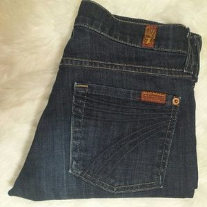 7 For All Mankind Denim - 7 for all mankind DOJO Crop Bermuda Shorts Size 25