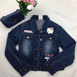 Hello Kitty Other - Hello kitty Jean Jacket with cute prints size 6-6x