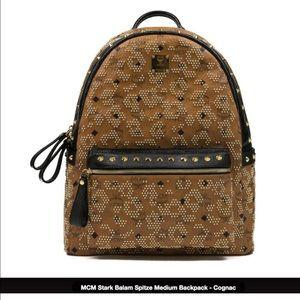 MCM Handbags - MCM Stark Balam Spitze Medium Backpack - Cognac