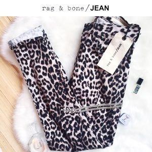 rag & bone Denim - NEW☆ʀᴀɢ + ʙᴏɴᴇ•Snow LEOpard/Boyfriend Jeans[23]/