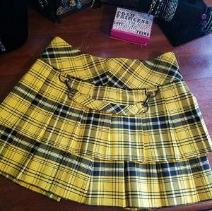 Ideology Dresses & Skirts - New Black Yellow Ideology Plaid Skirt