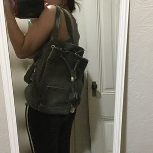 Neiman Marcus Handbags - Newman Marcus olive green backpack