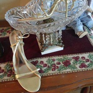 Aldo Shoes - ALDO Pale Gold Leather Heels
