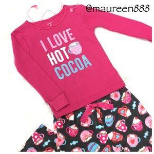 Carter's®    I LOVE HOT COCOA    2-Piece Fleece PJ