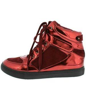 Shoes - ⬇💲New Fierce Metallic Hightop