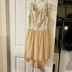 Hi-low evening dress