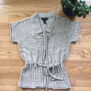 Mercer & Madison Sweaters - Mercer & Madison Tie Open Short Sleeve Cardigan