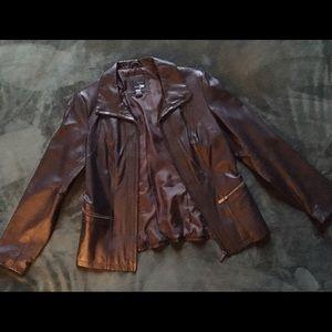 East 5th Jackets & Blazers - Ladies brown leather jacket