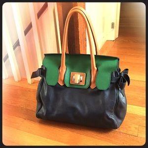 Roberta Gandolfi Handbags - Roberta Gandolfi Colorblock Leather Satchel