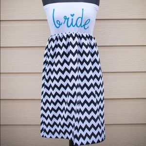Dresses & Skirts - Chevron Bride-to-be dress