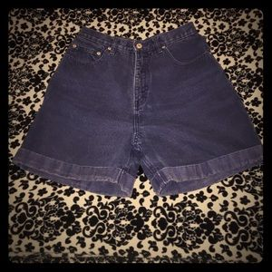 Route 66 Pants - 💄High waisted dark blue jean shorts - Route 66