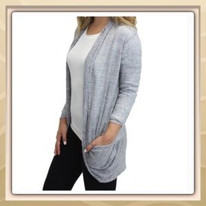 Relished Sweaters - 🆕Relaxed fit Grey Pocket Cardigan by Relished