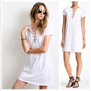 NYTT Dresses & Skirts - New NYTT Laceup Wendy White Dress