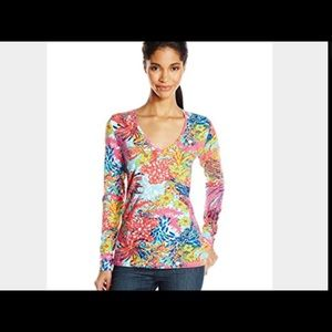 Lilly Pulitzer Tops - 🐬Lilly Pulitzer Top XL FISHING FOR COMPLIMENTS