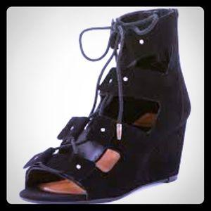 DV by Dolce Vita Shoes - Dolce Vita DV black lace up sandal wedges. Size 7