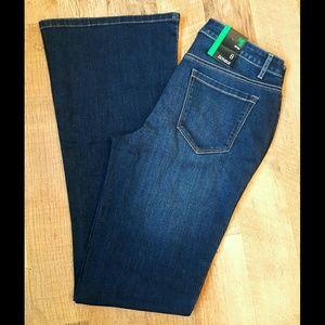 Macy's Denim - Low Rise Flare Leg Jeans Dark Wash MACYS NWT