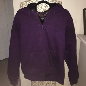 Tony Hawk Other - Men's Purple Marled Zip Up Hoodie