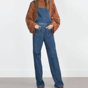 Zara Denim - ZARA Woman Blue Denim Dungarees Overalls