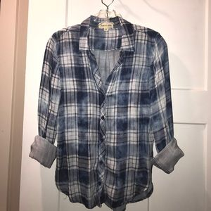 Anthropologie Tops - Cloth & Stone blue plaid. XS