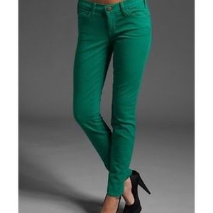 Current/Elliott the ankle skinny green jeans 28