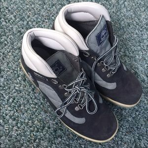 Timberland Shoes - Navy Blue and Grey Timberlands