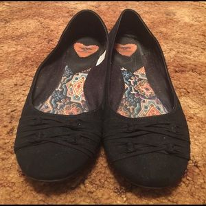 Rocket Dog Shoes - Black Suede Flats
