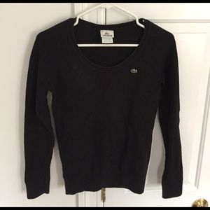 Lacoste black pullover sweater