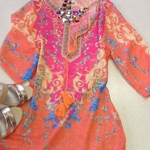 Other - NWOT🌞👙Stunning orange cover up👙🌞