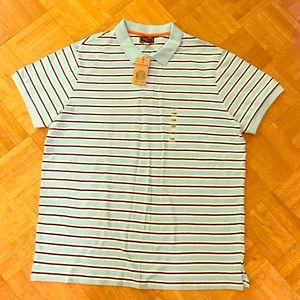 Dockers Other - NWT Men's XL Blue Striped Collared Shirt Dockers