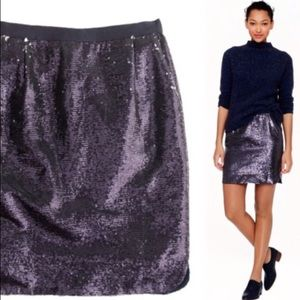 J.Crew sequin mini skirt