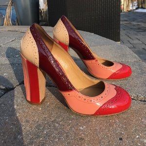 Miu Miu Shoes - Miu Miu Color Block Oxford Style Block Heels 35