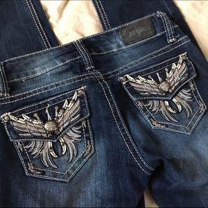ZCO Denim - ZCO Slim Leg Feather Embellished Pocket jeans