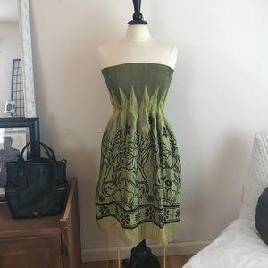 Lapis Dresses & Skirts - Floral Green sundress/ maxi skirt