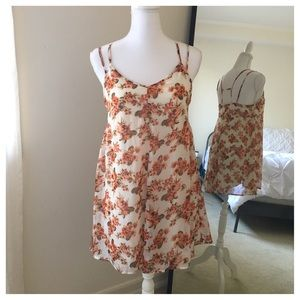 Tilly's Dresses & Skirts - White Dress w/ Orange/Coral Floral Print.
