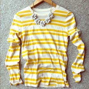 Yellow Striped M Merona Long Sleeve Tee