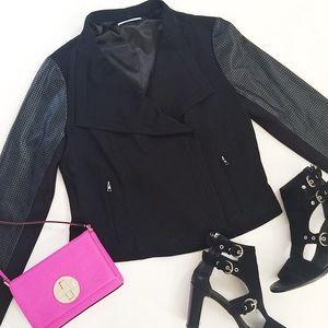 T Tahari Jackets & Blazers - T Tahari Nanette Perforated Moto Jacket