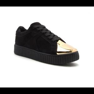 Shoes - Gold Plated Faux Suede Creeper | MAKE A OFFER