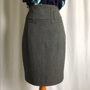 Express dark charcoal gray suit skirt size 00