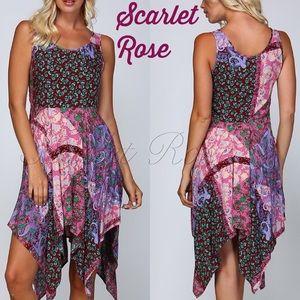 Scarlet Rose Boutique Dresses & Skirts - 🌹'Waterfall' Style Pink Sharkbite Hem Dresses🌹