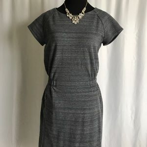 GAP Dresses - Gap dark grey charcoal cap sleeve summer dress S