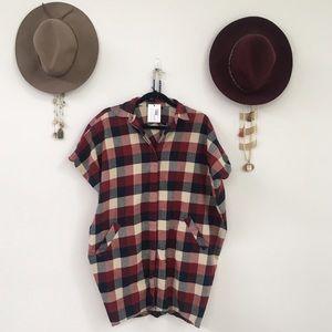 Hatch Dresses & Skirts - Hatch Collection plaid button down dress