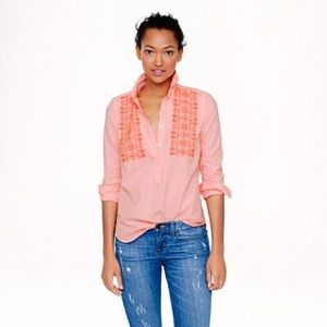 J.Crew Factory embroidered stripe shirt