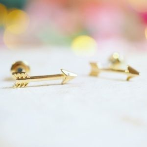 Twilight Gypsy Collective Jewelry - Gold Arrow Earring Studs