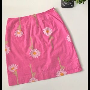 Lilly Pulitzer Dresses & Skirts - Vintage LILLY PULITZER Daisy Print Skirt